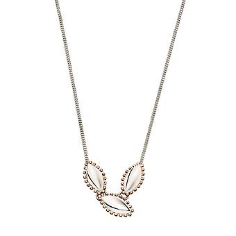 Joshua James Motive Silver & Rose Gold Plated Marquise Necklace