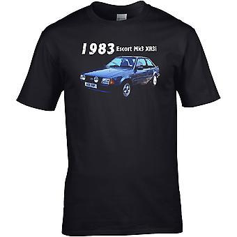 Ford Escort XR3i 80er Jahre Classic - Automotor - DTG gedruckt T-Shirt