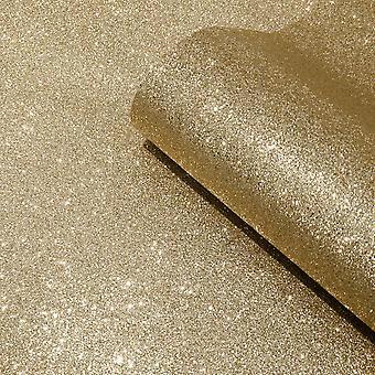Oriah Real Glitter Wallpaper Gold Muriva 401011 - 6m x 0.53m