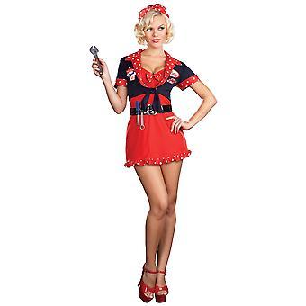 Kvinnor Sexy Betty Kostym