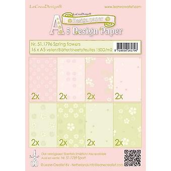 LeCrea - Back ground paper assortment Spring flowers pink/gre 51.1796