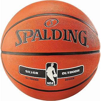 Spalding NBA Silver Composite Rubber Outdoor Basketball Brown