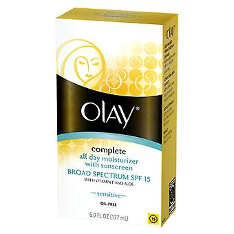 Olay sensitive complete all day uv protection, spf 15, 6 oz
