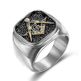 Classic compass & square ring