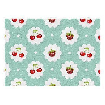 Kids Rug - Fruits Rouges - Lavable - 65 x 85 cm
