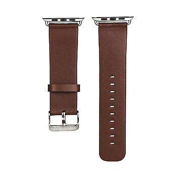40mm,38mm for Apple Watch Series 1,2,3 and 4 Vintage Genuine Leather Strap Brown