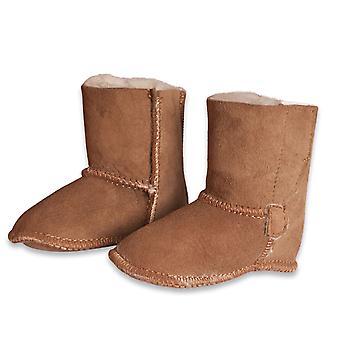Nordvek Baby Sheepskin Slipper Boots - Klittenband Baby Booties # 408-100