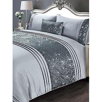 Charleston Duvet Cover and Pillowcase Bed Set - Single, Grey