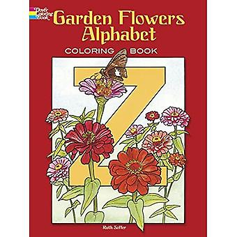 Garden Flowers Alphabet Colouring Book (Dover Pictorial Archives) [Illustrated]
