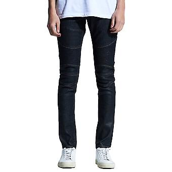 Embellish Snyder Biker Denim Jeans Black