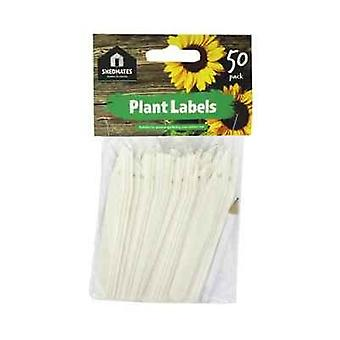 Shedmates GSP202 Plant Labels and Pencil - White (Pack of 50)