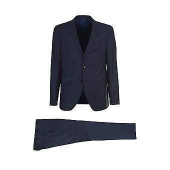 Etro 1a90782230200 Men's Blue Wool Suit