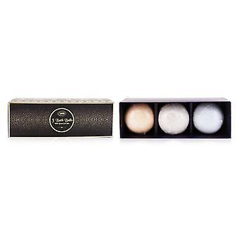3 Bath Balls With Dead Sea Salts (patchouli Lavender Vanilla Peach Honey Shiny Spice) - 3pcs