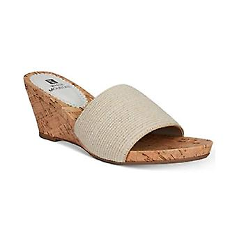White Mountain! Aleah Slide Wedge Sandals Natural Size 10.5M