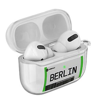 Coque AirPods Pro Design Billet Berlin Souple Anti-rayure Mousqueton Transparent