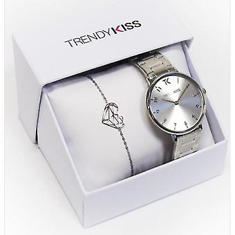 Trendy Kiss CTK-22 Box - Iris Watch TM10095-03 And Silver Bracelet Steel Woman
