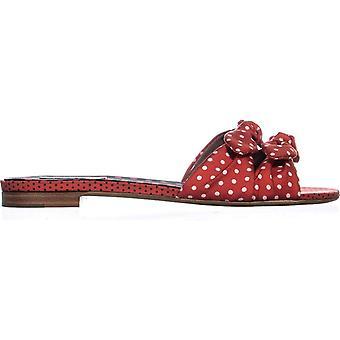 Tabitha Simmons Women's Shoes Cleo Polka Fabric Open Toe Casual Slide Sandals
