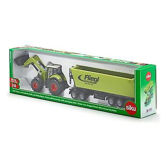 Siku Claas Axion 850 Tractor, Frontloader, Dolly & Trailer 1:50 1949