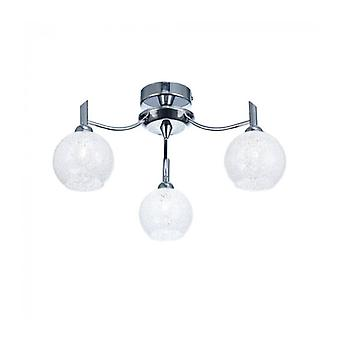 Chrome Ceiling Light Chrysalis 3 Bulbs