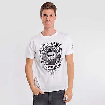 Scheer wit T-shirt