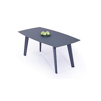 Alu Table à manger Verre dépoli 180 cm - anthracite