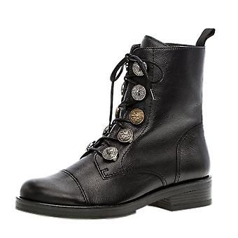 غابور سيدة منخفضة كعب أحذية الكاحل أزياء في الجلد الأسود