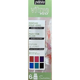 Pebeo Vitrea 160 Glass Paint Initiation Set 6 x 20ml