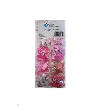 Sulhanen ammatillinen vaaleanpunainen muoti lisävaruste muotoilu jouset lemmikkieläinten - pakkaus 100