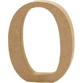 13cm Large Wooden MDF Number Shape to Decorate - 0 | Wood Shapes for Crafts