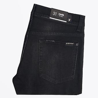 7 For All Mankind  - Ronnie Stripe Luxe Performance Jeans - Black