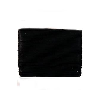 20m Black Waxed Cotton 1mm String for Threading Crafts | Cord & Elastic