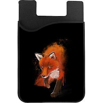Maalattu fox puhelinkortin haltija