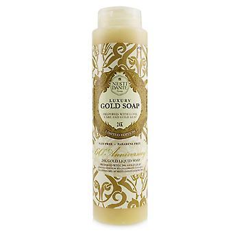 60 Anniversary Luxury Gold Soap Met Bladgoud - 24k Gold Liquid Soap (douche gel) (limited Edition) - 300ml/10.2oz