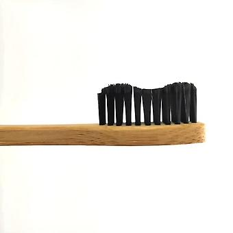Bamboo Charcoal Biodegradable Toothbrush, Wave Shaped And Moderate Hardness