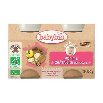 Petits Pots Pomme Châtaigne Bio 2 units of 130g (Apple - Chestnut)