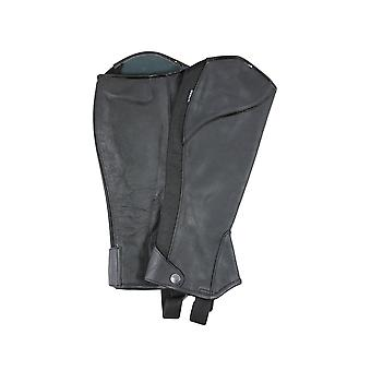 Dublin Adults Stretch Fit Half Chaps - Negru / brevet