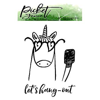 Picket Fence Studios Let's Hang Out Clear Stamps