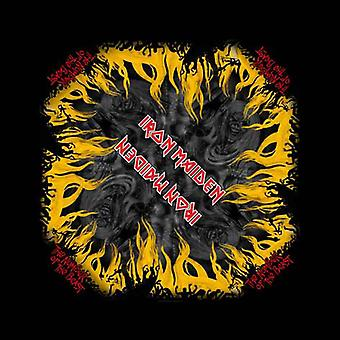 Iron Maiden Bandana Číslo Bestie Oficiální New Black (21in x 21in)