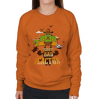 The Good The Bad And The Cactus Cowboy Women's Sweatshirt
