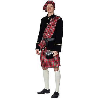 Scots bărbați costum scoțian costum 4tlg scoțian fusta longjackett carnaval Scoția
