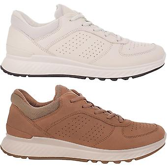 Ecco Womens Exostride Low Leather Lace Up Breathable Trainers