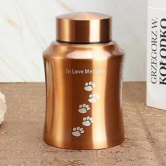 Pets Cremation Ashes Stainless Steel Urn - Keepsake Casket Columbarium Pet