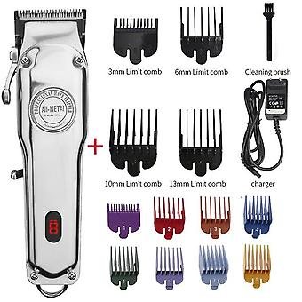 Toate Metal Barber Hair Clipper Professional Electric Hair Trimmer Cordless Hair Cutter Machine