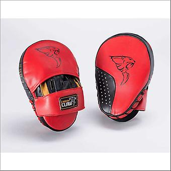Carbon claw pro hook and jab curved focus pads - red & black