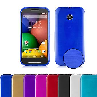 Cadorabo Case for Motorola MOTO E Case Cover - Mobile Phone Case made of flexible TPU silicone - Silicone Case Protective Case Ultra Slim Soft Back Cover Case Bumper