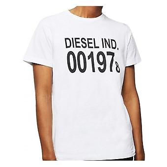 Diesel T-diego J25 T Shirt Biały