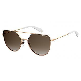 نظارات شمسية للجنسين 6057/SVK6/LA التدرج النحاس / براون