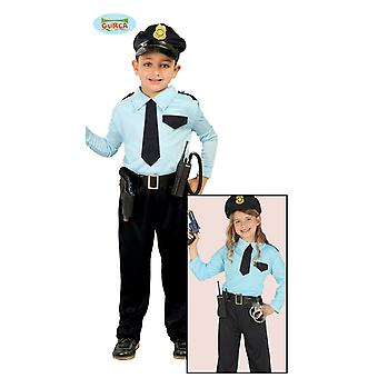 Guirca polis kostym för barn unisex Carnival polisen COP