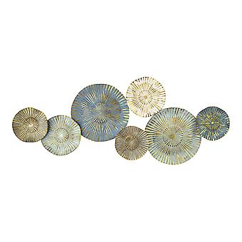 Plates Wall Decor With Golden Metallic Rays