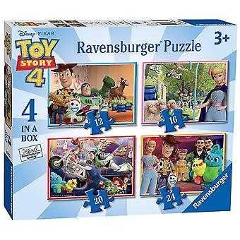 Ravensburger Toy Story 4, 4 in a Box Jigsaw Puzzles